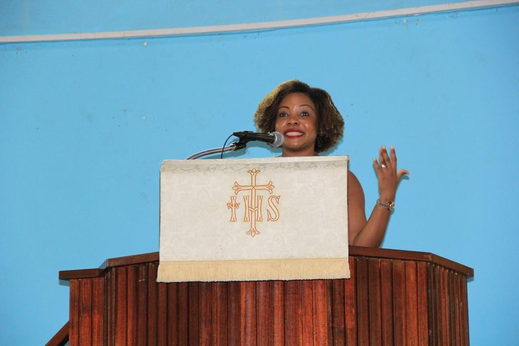 Chairperson brings greetings on behalf of HMH