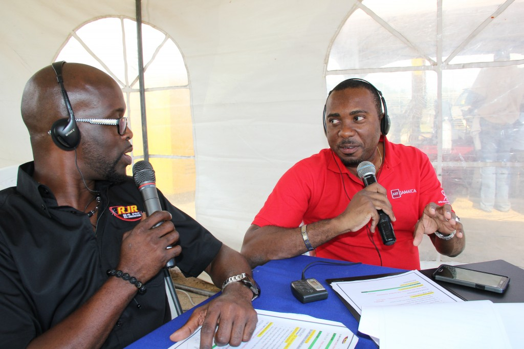 Dr Kevin Harvey beign interviewed on RJR