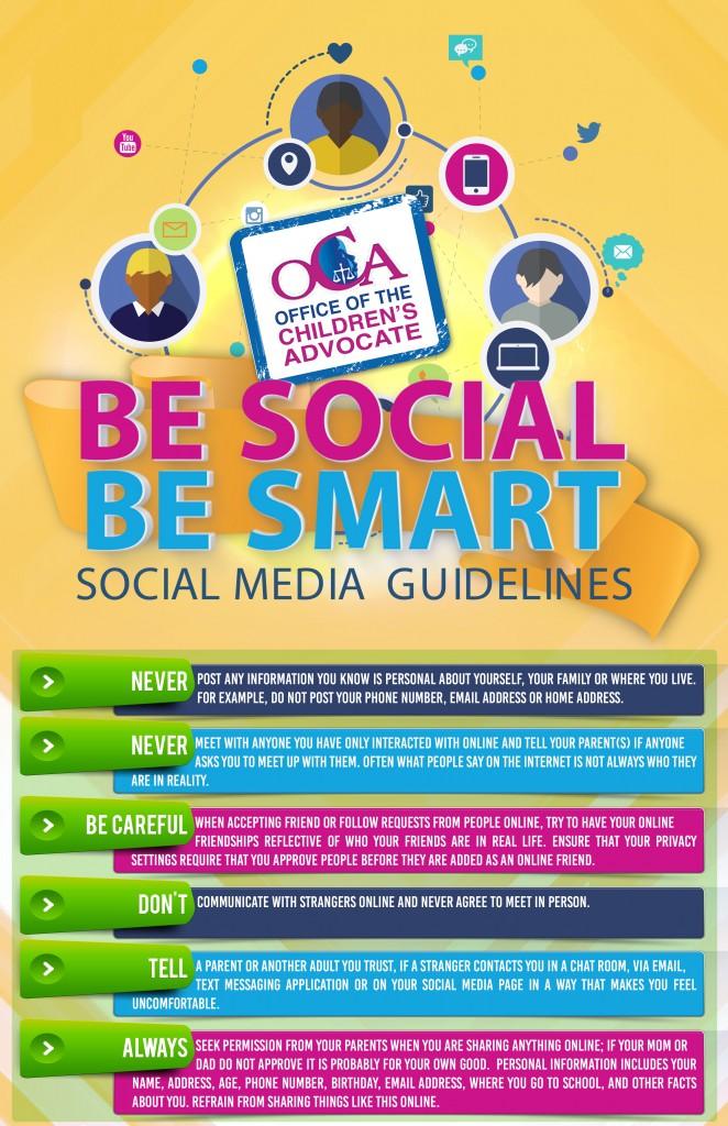 OCA Be Social Be Smart Poster Design