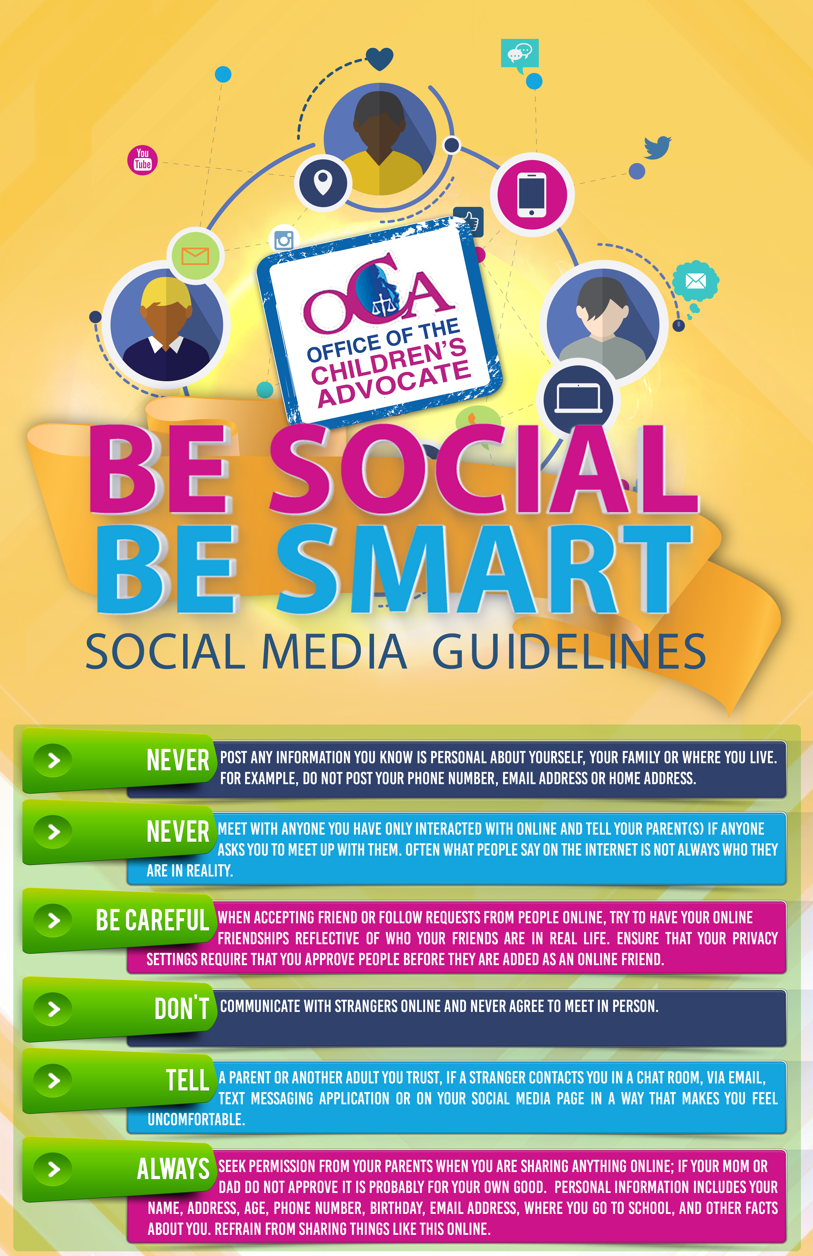 Media Guidelines For Kids Of All Ages >> Be Social Be Smart Social Media Guidelines For Youth Jamaica